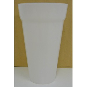Gobelets durables 50 cl blanc laiteux