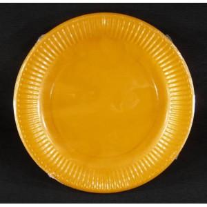 Assiettes carton 23 cm Mandarine