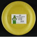 Assiettes carton 23 cm jaune