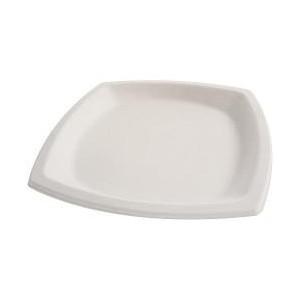 Assiette pulpe carree 21x21 cm les 25