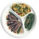 Assiette pulpe 3 compartiments d 26 cm les 25