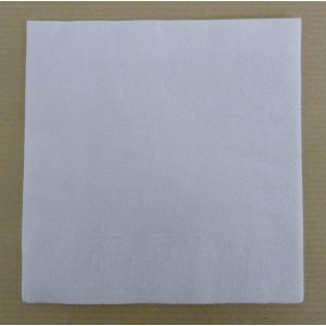 Serviettes Cocktail 24x24 blanche